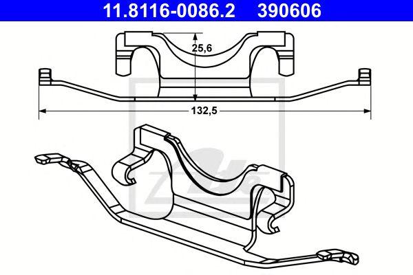 Mola Pinça de Travão MB Cl (c216) Coupe(06-) Cl 500 Tr