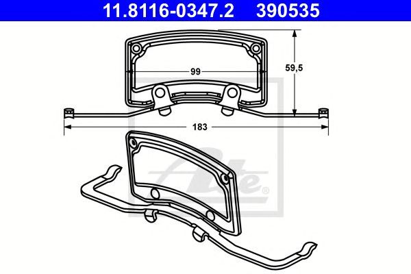 Mola Pinça de Travão Audi A6 (4f2/c6)  (04-11) Ft