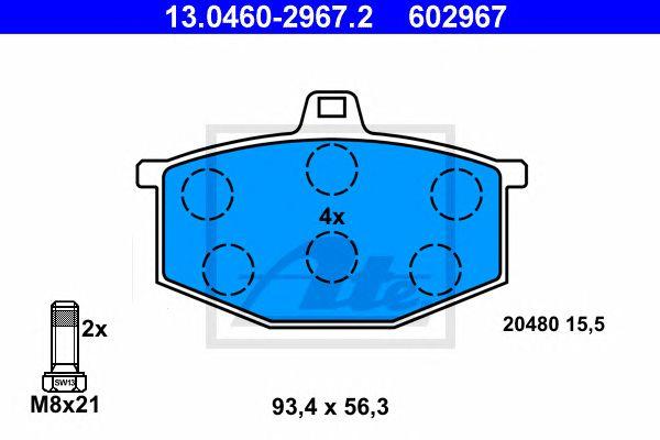 ATE 13.0460-2967.2, Cilindro Roda Lancia Ypsilon (03-11) Tr
