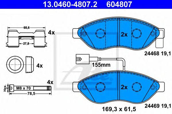 Pastilha de Travão Fiat Ducato. Psa Boxer. Jumper 04/06- Ft
