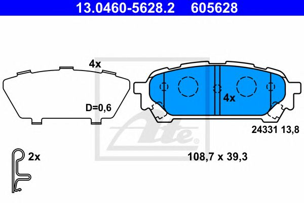 Pastilha de Travão Subaru Impreza Kombi (00-05) Tr