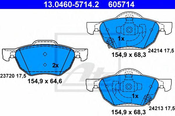 Pastilha de Travão Honda Accord VIII 03- Ft
