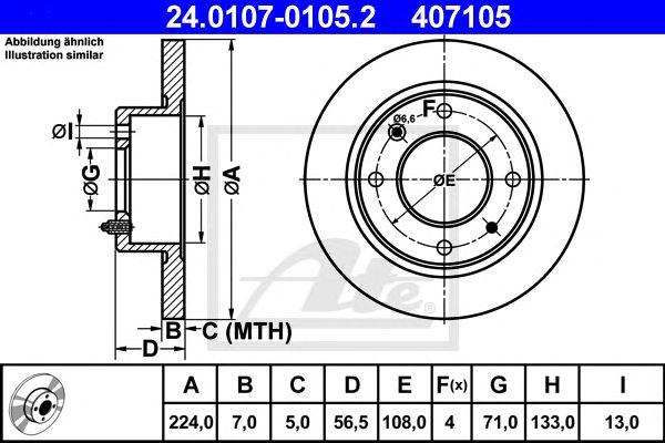 DISC TRAV CLASSIC PKW CITROEN BX (82-93) TR