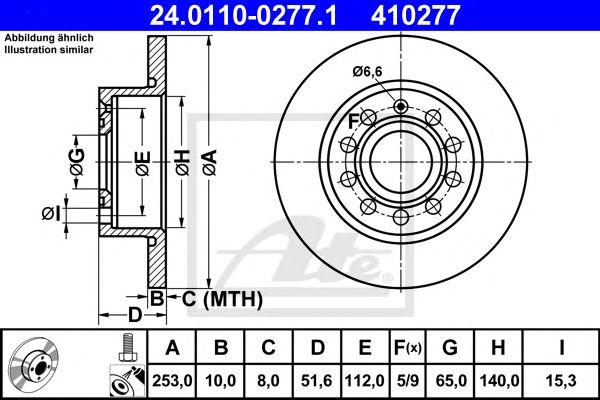 Disco de Travão Vag A3 04- (255mm) Tr