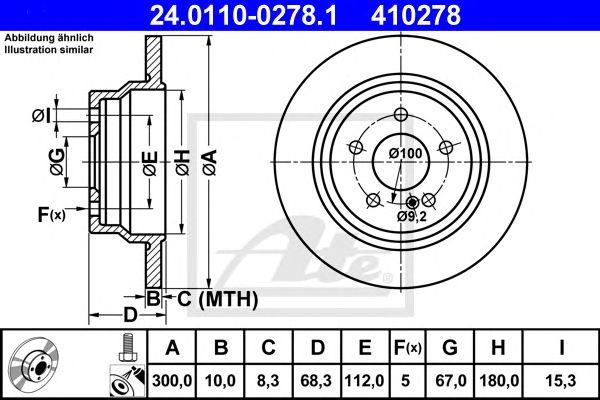 Disco de Travão MB W211. S211 02- Tr