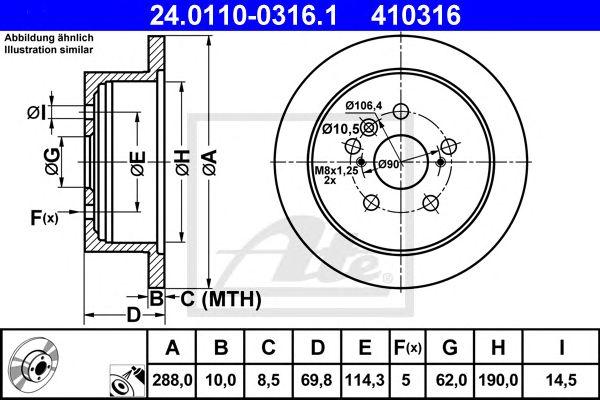 Disco de Travão Lexus Rx 300/350/400 (mcu_) (03-08) Tr