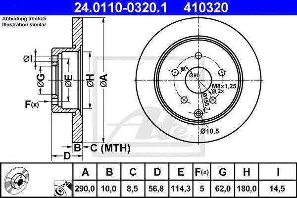 Disco de Travão Toyota Corolla Verso (04-09) Tr