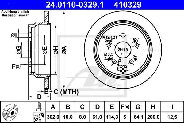 Disco de Travão Honda Cr-v III 07- 302mmtr