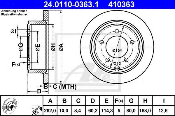 Disco de Travão Chrysler Sebring (js) (07-10) 2.7 Vvt Tr