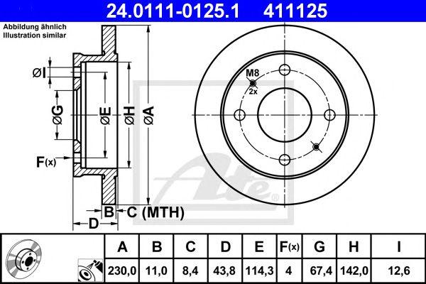 Disco de Travão Hyundai Atos(mx) 1.0i 02/98-ft