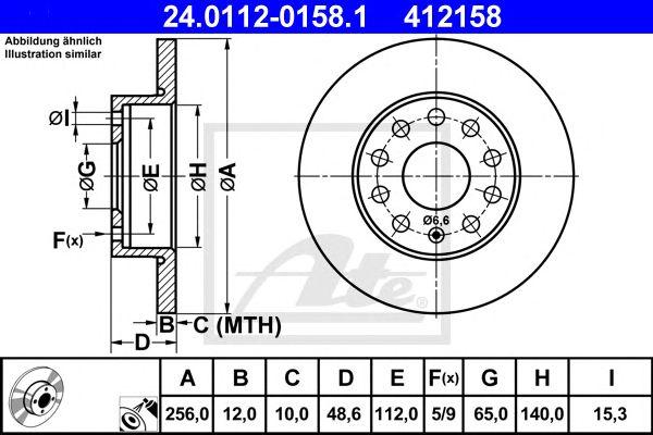 Disco de Travão Vag A3 04- (260mm) Tr
