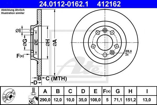Disco de Travão Psa 407/sw 04-tr
