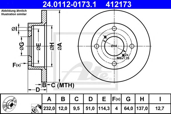 Disco de Travão Suzuki Swift II (96-04) 1.3 I (sf413) Ft