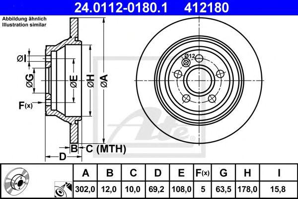 Disco de Travão Volvo S80 II (06-) Tr