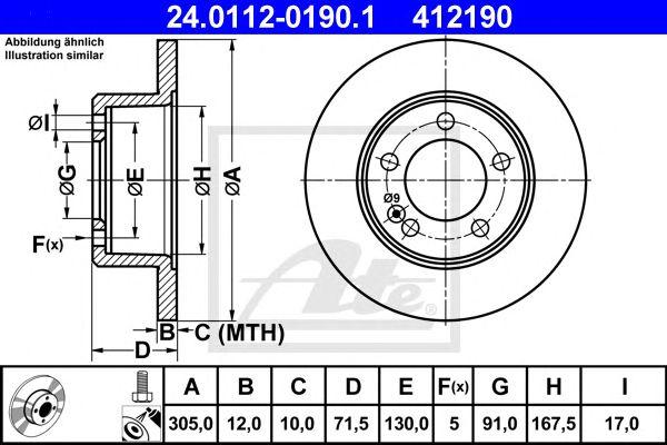 Disco de Travão Opel Movano B (10-) 2.3 Cdti Rwd Tr