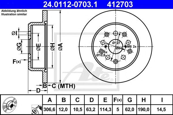 Disco de Travão Lexus Gs 300 (97-05) Tr