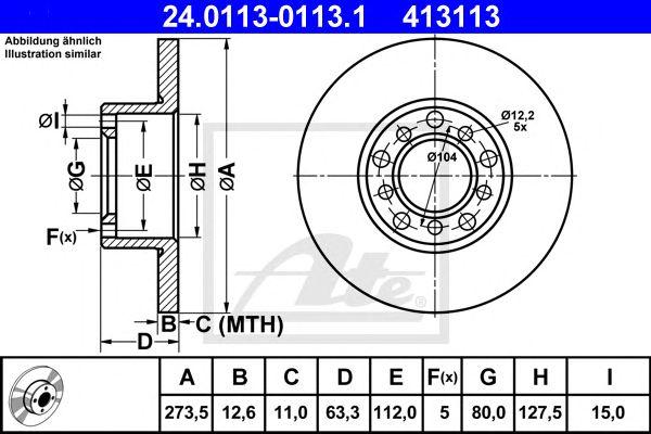 Disco de Travão MB W115 200 - 240dft