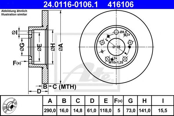 Disco de Travão Classic Pkw Citroen C25 (81-94) Ft