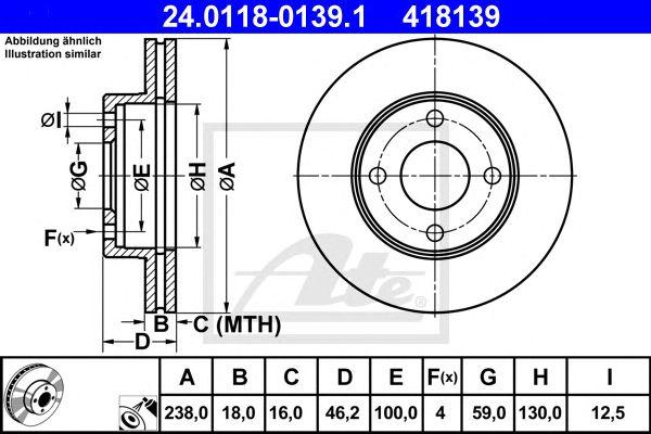 Disco de Travão Nissan Micra (k11e) (92-02) Ft