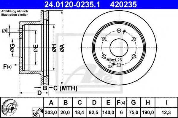 Disco de Travão Hyundai H-1 (00-07)