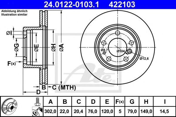 Disco de Travão BMW E32. E34 520i-730i.6+8cilft