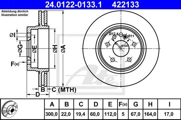 Disco de Travão MB W140 300mm 91-99tr