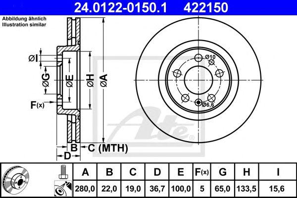 Disco de Travão Vag Golf IV, A3 (280mm) Ft