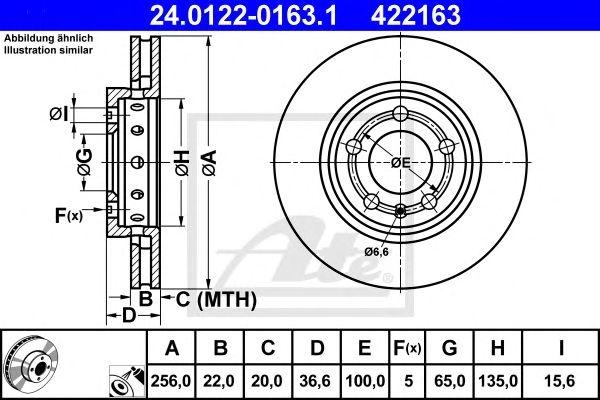 Disco de Travão Vag Golf IV 1.8t / Tt / Bora(r32) Ft