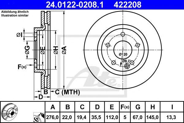 Disco de Travão MB A-klasse (w168) (97-04) Ft