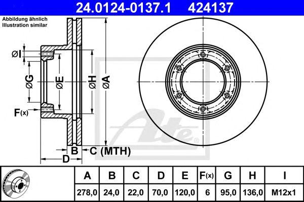 Disco de Travão Renault Master 80-98 Ft