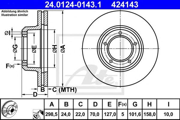 Disco de Travão L Rover Discovery 89- (ventilados) Ft