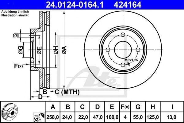 Disco de Travão Mazda 323 /323 F/323 para 323 S (98-03) Ft