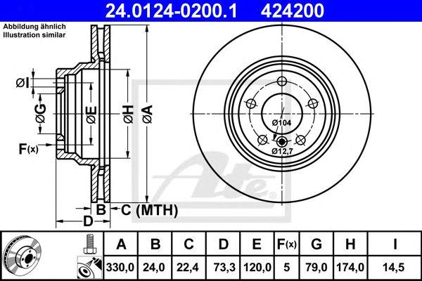 Disco de Travão BMW E87/e81/e90/e91 04- Ft