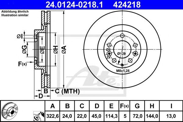 Disco de Travão Mazda Rx-8 (03-) Ft