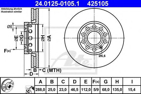 Disco de Travão Vag A4 1.8t-2.5tdi 95-ft(425171)