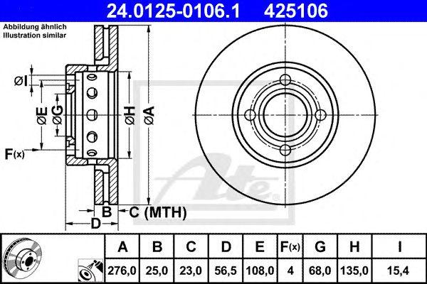 Disco de Travão Vag 80 2.3 / 2.8 5.90-12.96