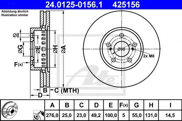Disco de Travão Toyota Avensis/combi 10/00-ft