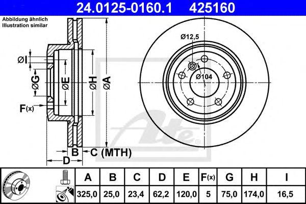 Disco de Travão BMW X3 04- Ft