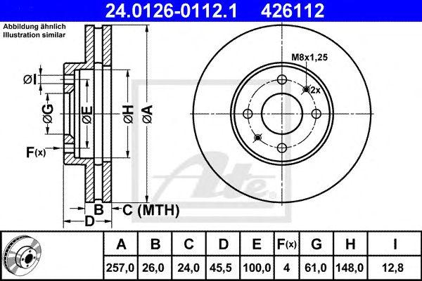 Disco de Travão Nissan Almera N15 2.0gti. Sunny2.0gti(ft