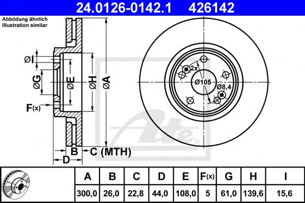 Disco de Travão Renault Scenic Rx4 00- Ft