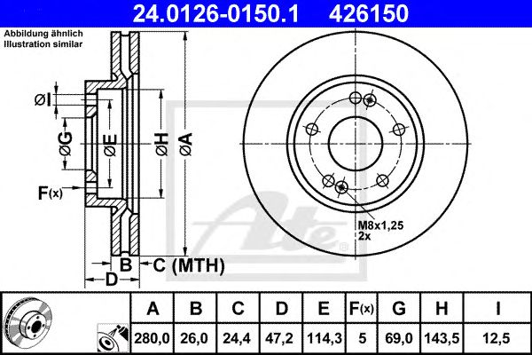 Disco de Travão Hyundai I30/ceed 06- Ft