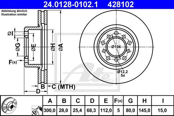 Disco de Travão MB W126 260 - 500 Sec 85-91 Ft