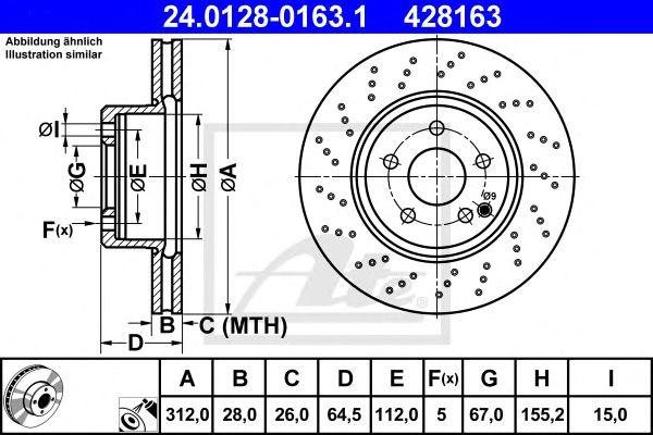 Disco de Travão MB Sl-klasse (r230) (01-11) Ft