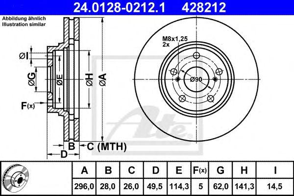 Disco de Travão Toyota Camry (01-05) Ft