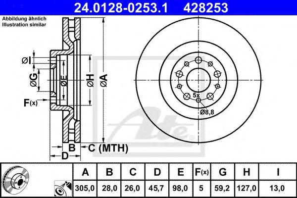 Disco de Travão Fiat Doblo (10-) 1.3 D Multijet Ft