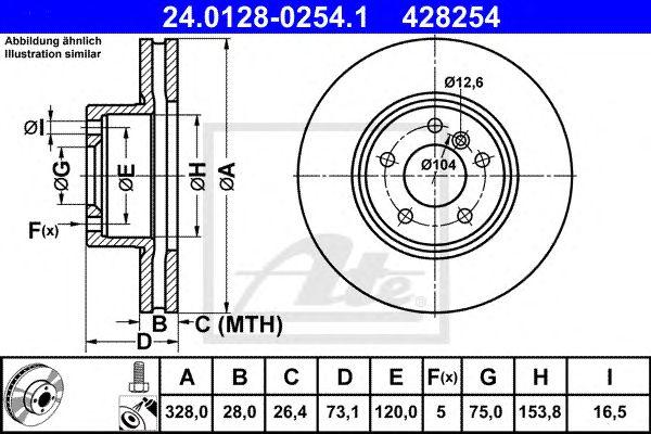 Disco de Travão BMW X3 (10-) Ft
