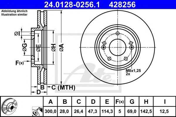Disco de Travão Hyundai I40 (12-) 1.6 16v Ft