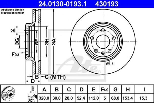 Disco de Travão Vag A4,a5 /avant Pra 07- Ft