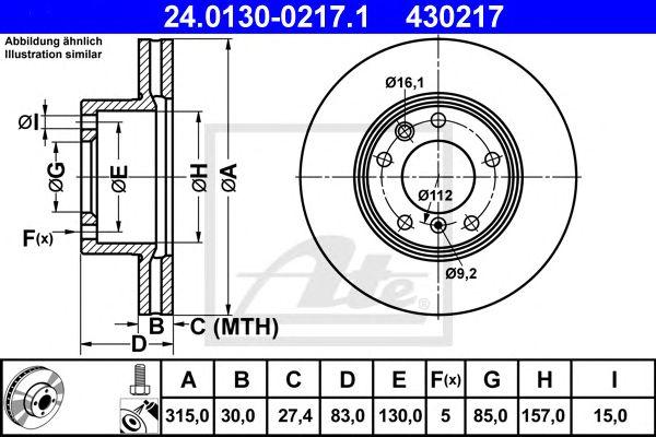 Disco de Travão Classic Pkw MB G-klasse (w461) (90-) Ft