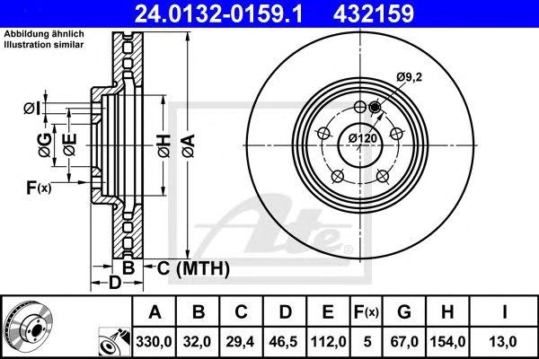 Disco de Travão Chrysler Crossfire Cabrio (04-08) Ft